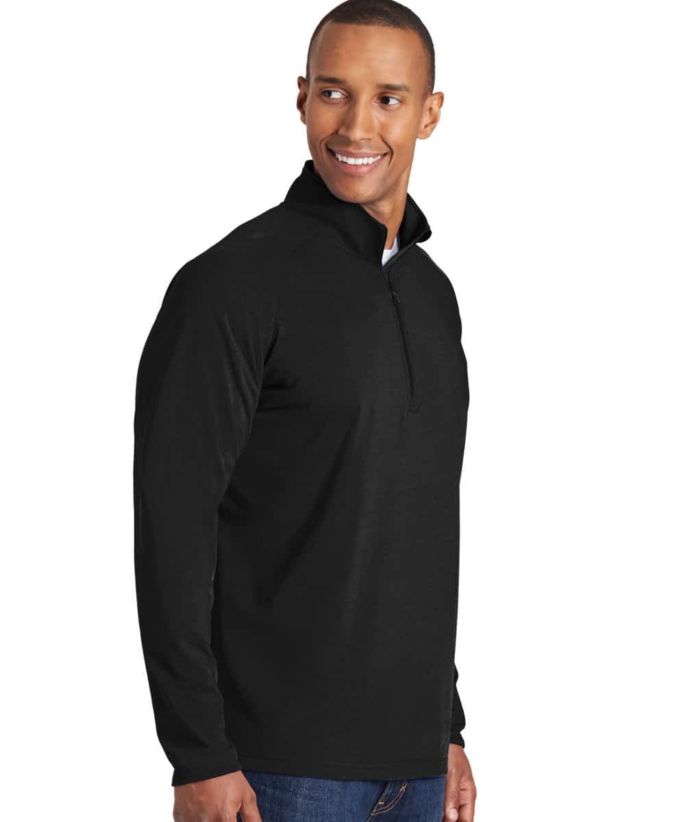 Sport Stretch Pullover For Short Men - Black