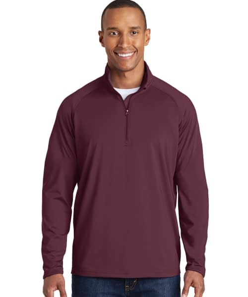 Sport Stretch Pullover For Short Men - Deep Red