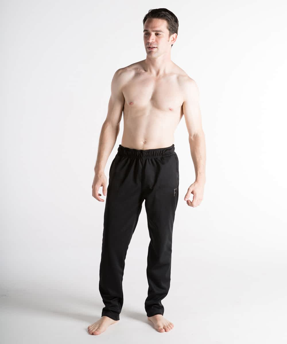 Speedy' Slim-Fit Athletic Training Pants For Short Men - Black