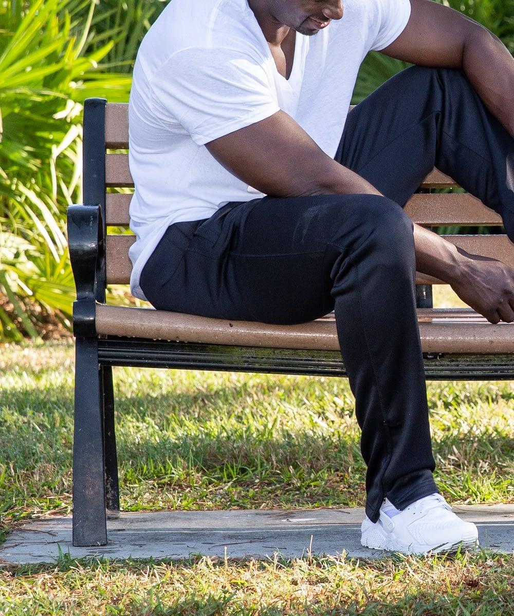 Tall Men's Speedy Zipper Bottom Athletic Pant