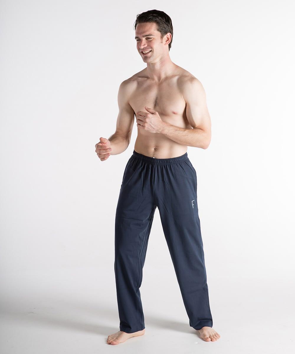 Jersey Short-Rise Athletic Pants For Short Men - Navy