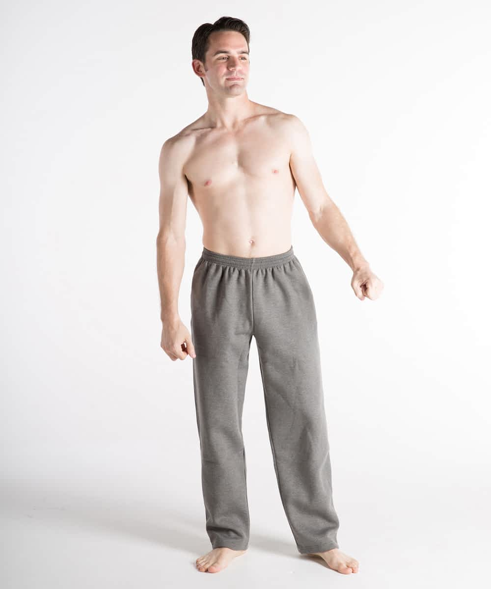Fleece Athletic Pants For Short Men - Graphite