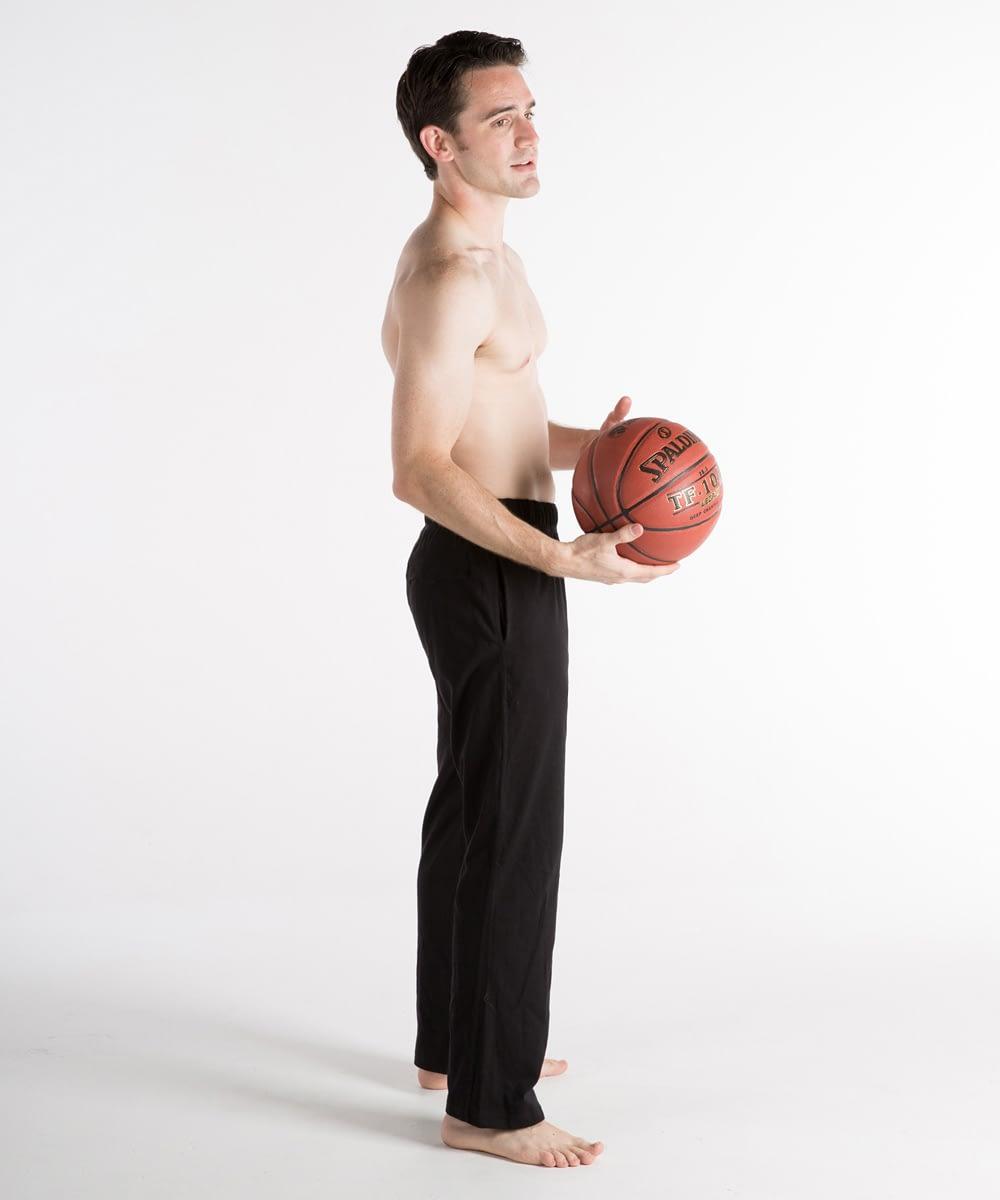Short-Rise Jersey Athletic Pants For Short Men - Black