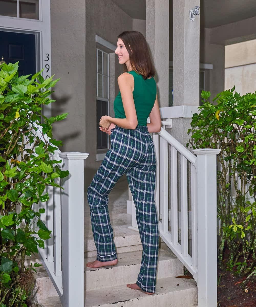 Side product view women's tall length pajama bottom