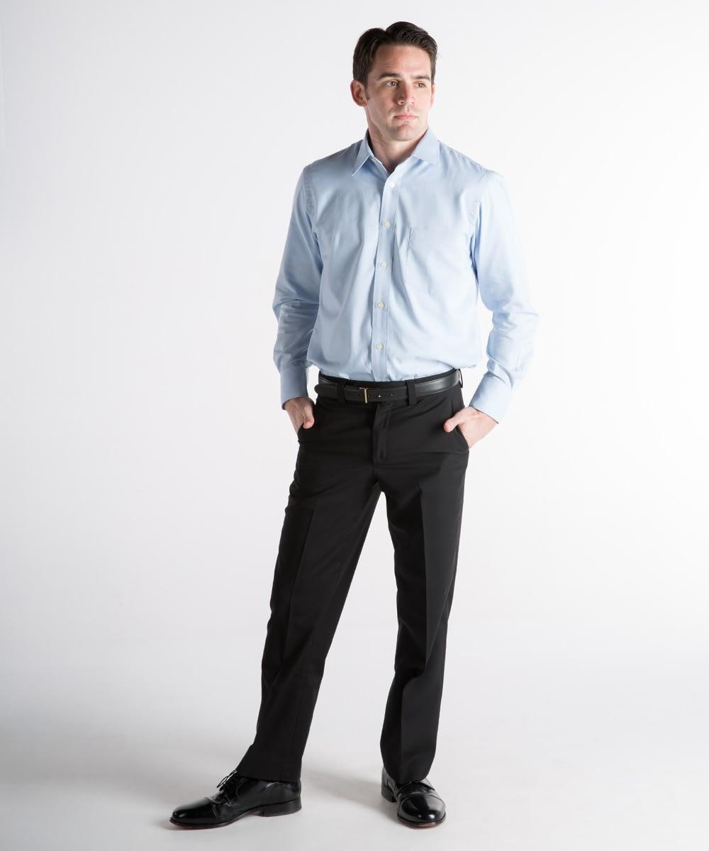 Roderick Premium Wool Dress Pants For Tall Men - Black