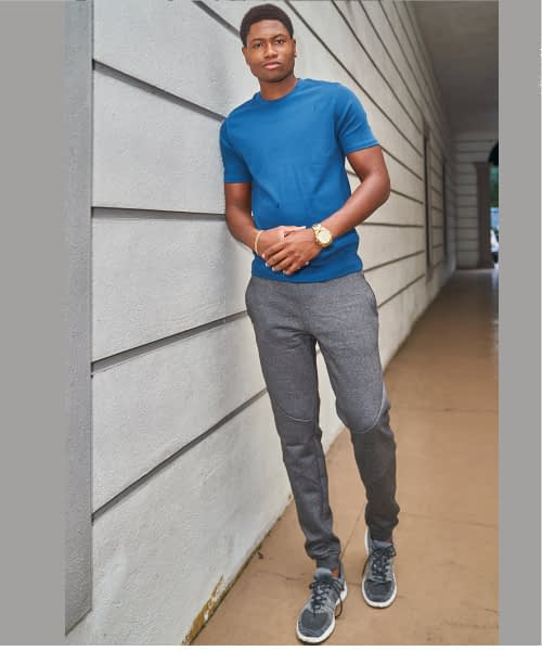 Tall Men's Fleece Joggers Slim Fit Product Image