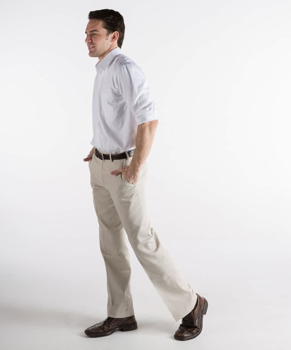 Dylan Flat-Front Cotton Twill Self-Sizer Chinos For Short Men - Sand