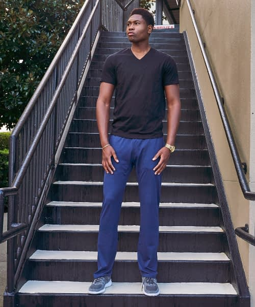 Tall Men's Athletic Pant Navy Tricot Product Image