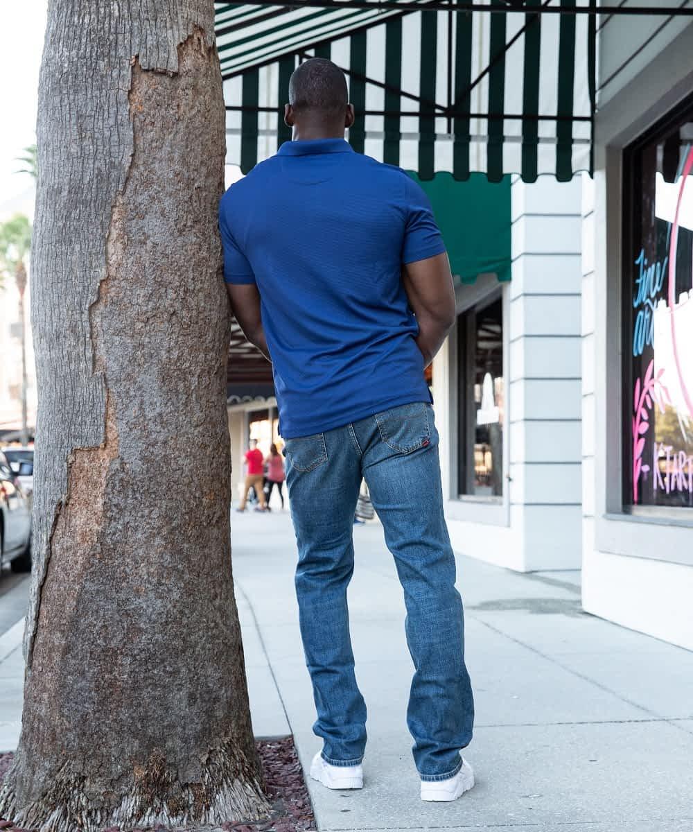 Tall Men's Denim in Classic Fit Mid Blue