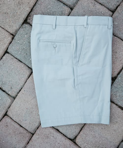Jeff Short-Rise Cotton Twill Shorts For Short Men - Cloud Gray, Self-Sizer Waist