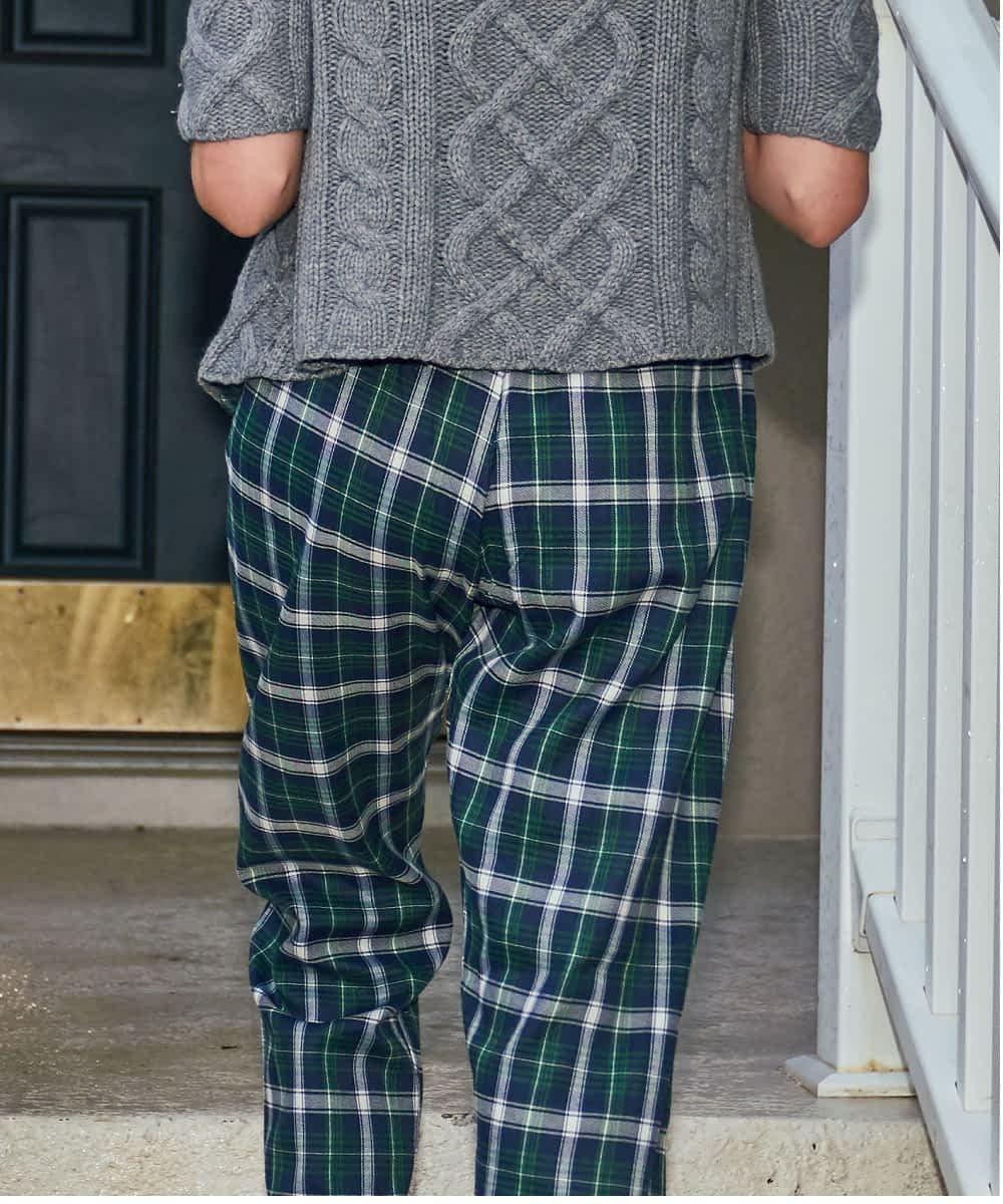 Petite ladies pajama bottom back product view