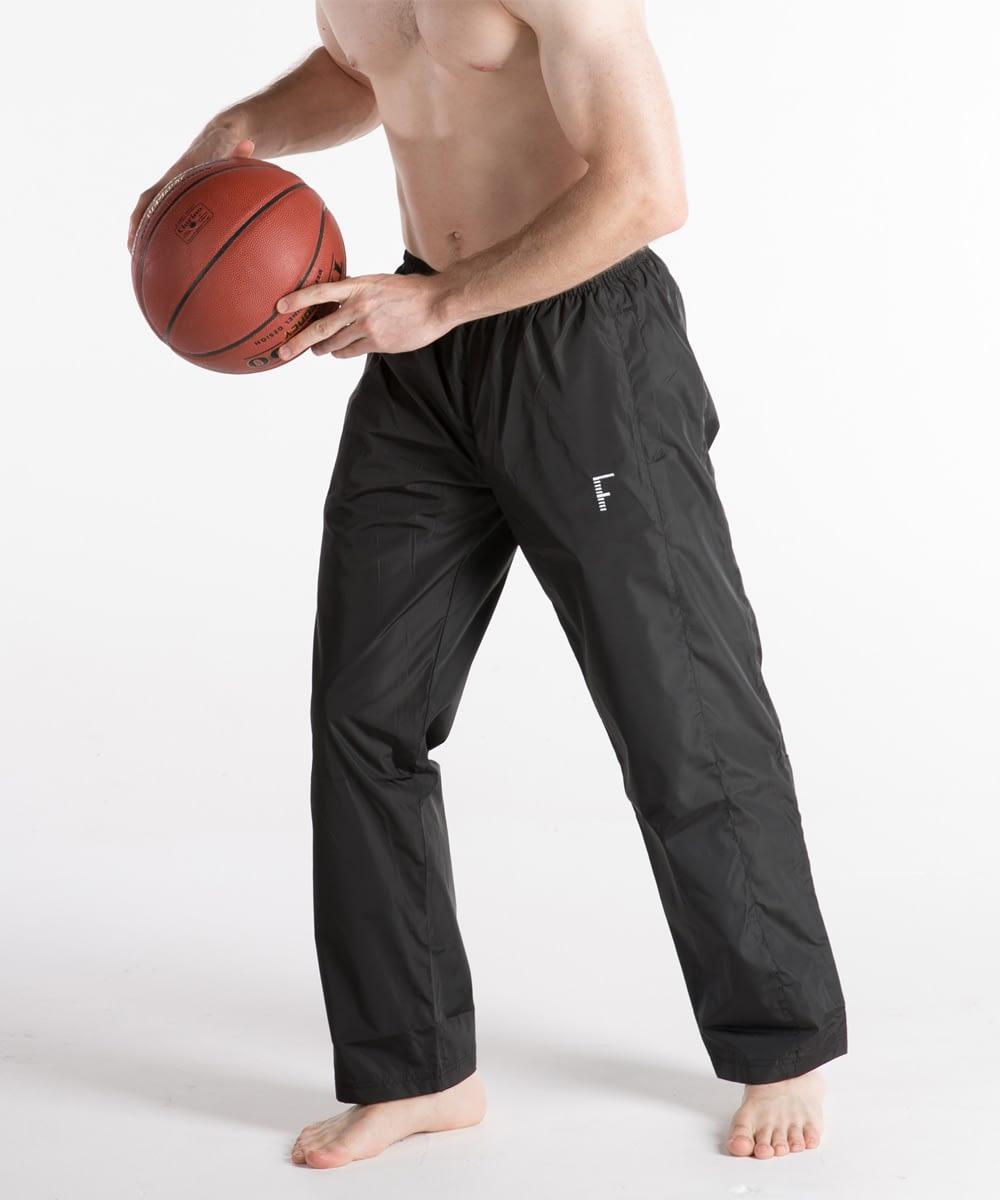 Athletic Zipper-Bottom Track Pants For Short Men - Black