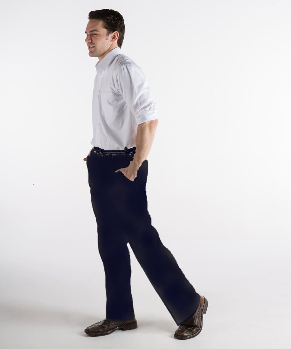 Navy Chinos Pants in Short Men's Sizes; Tall Men's Pants in Navy Twill