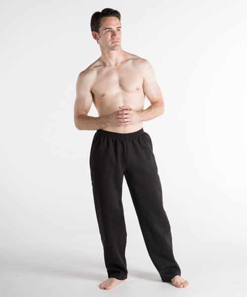 Fleece Athletic Pants For Short Men - Black