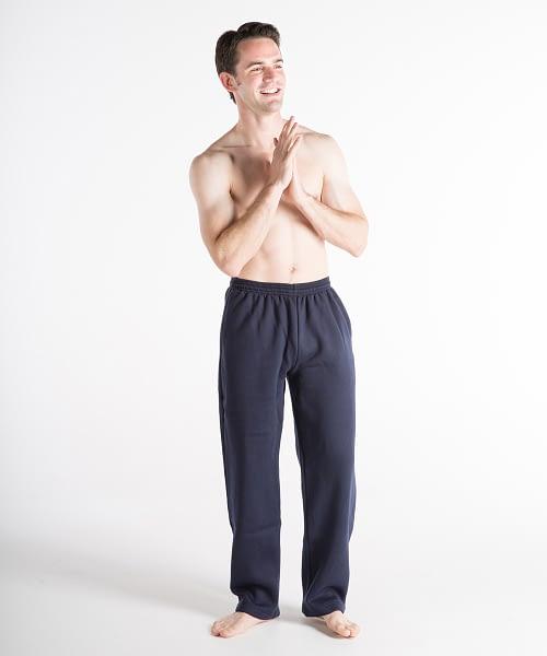 Fleece Athletic Pants For Short Men - Navy