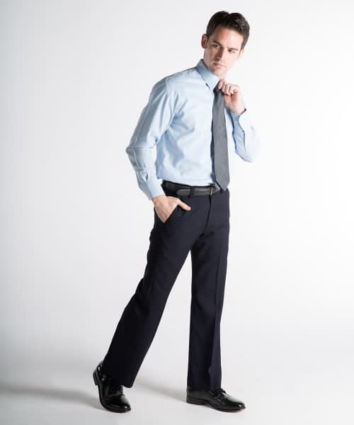 James Wool Relaxed Fit Dress Pants For Tall Men - Navy