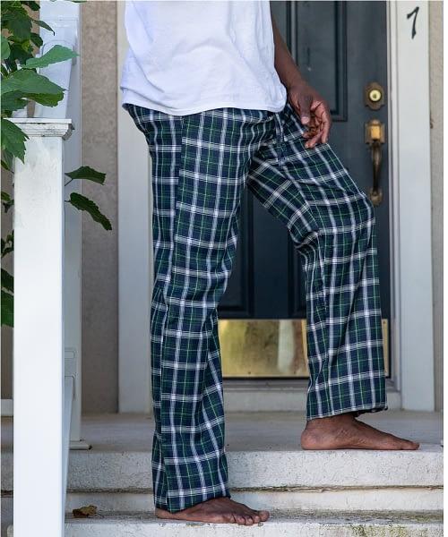 Tall Men's Pajam Bottom Plaid Flannel