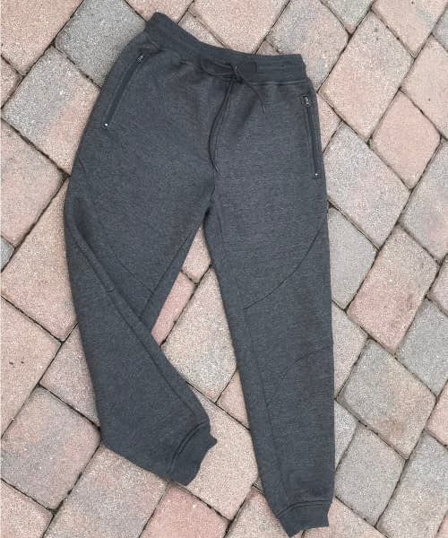 F105 slim fit fleece short and tall mens athletic pant