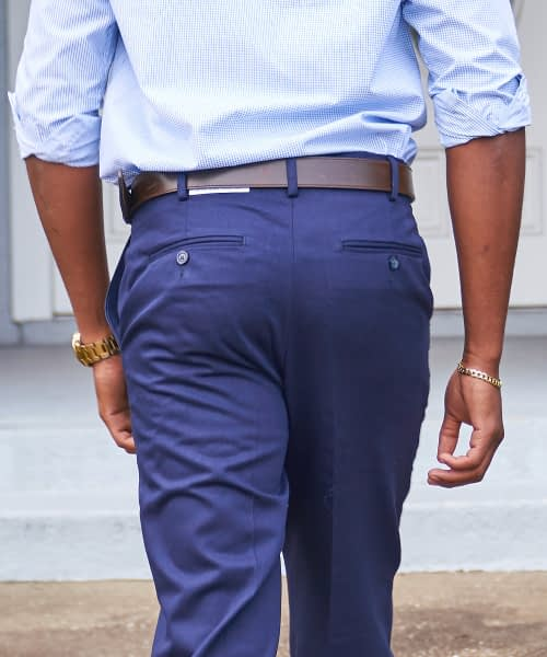 Navy Twill Chinos Product Catalog Photo Rear
