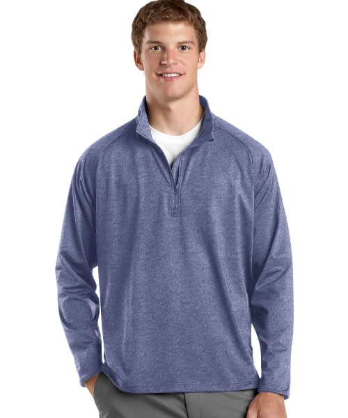 Sport Stretch Pullover For Tall Men - Navy Heather