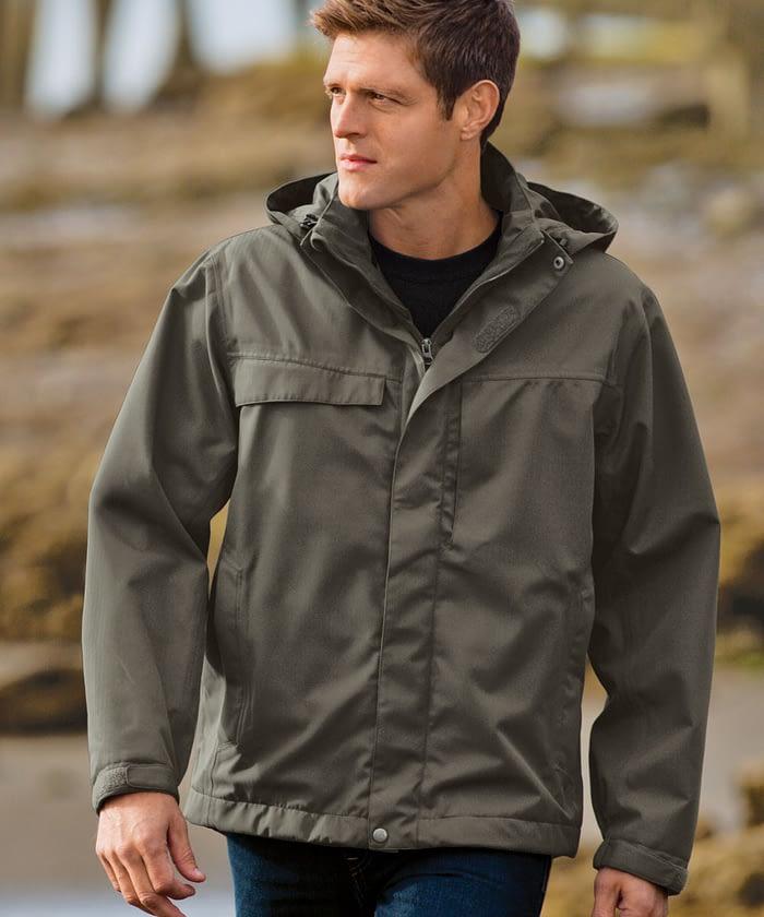 3-in-1 Herringbone Jacket For Short Men - Spruce