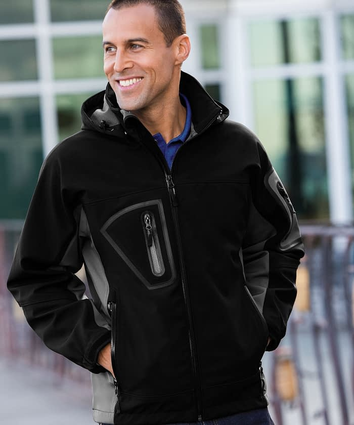 Waterproof Tech Zip Jacket For Tall Men - Black