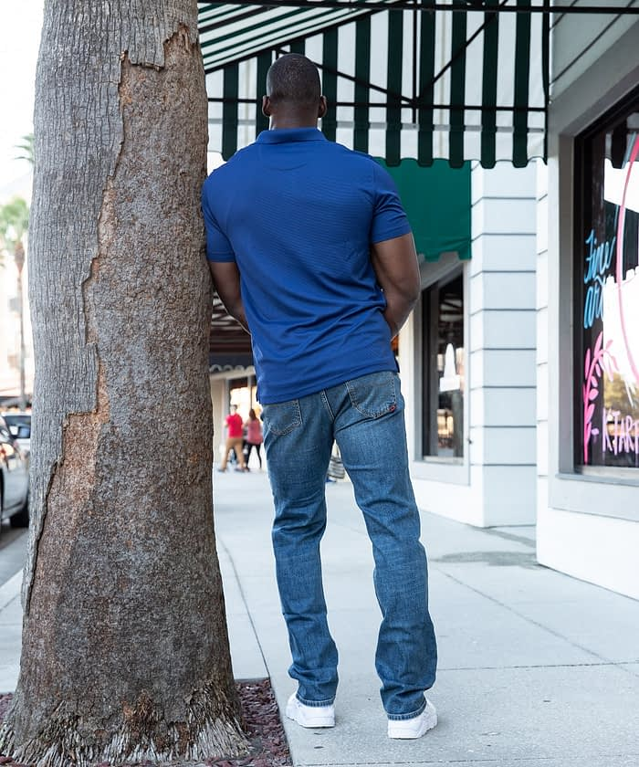 Tall Men's Denim in Classic Fit Mid Blue