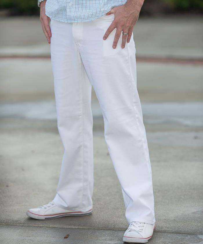 Jack 5-Pocket Twill Jeans For Tall Men - White