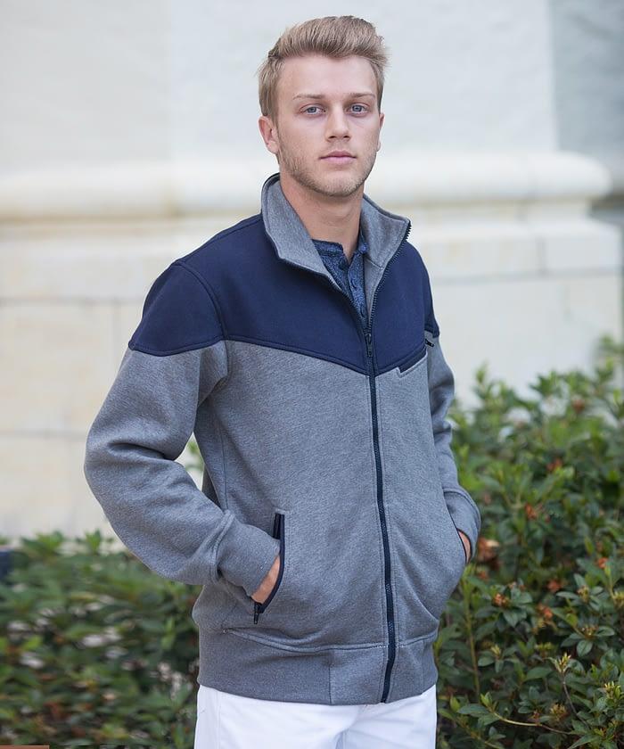 Zip-Up Fleece Jacket For Short Men - Graphite
