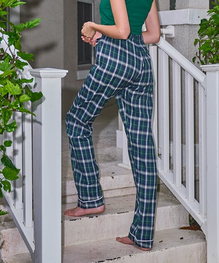 side view product image petite flannel pj bottom