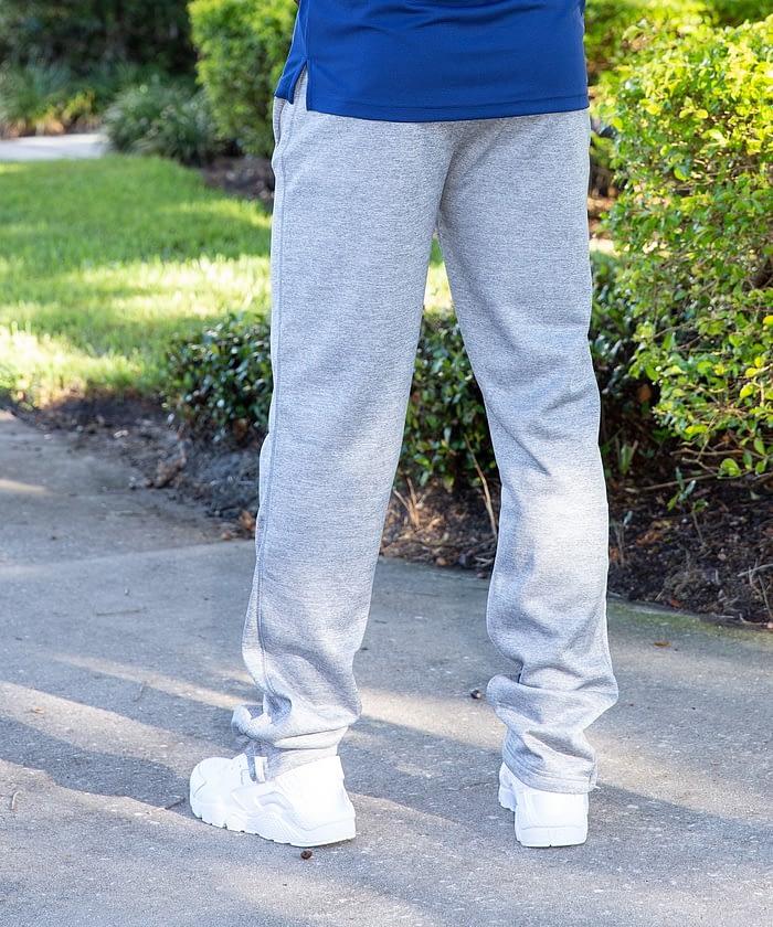 gray speedy athletic pant for short men