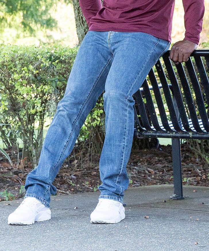 4900e2bdeec02 Jack SLIM FIT Denim Jeans For Short Men - Medium Blue - FORtheFIT.com