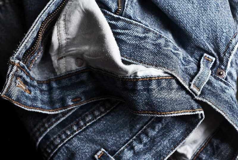 close up of some high quality denim jeans