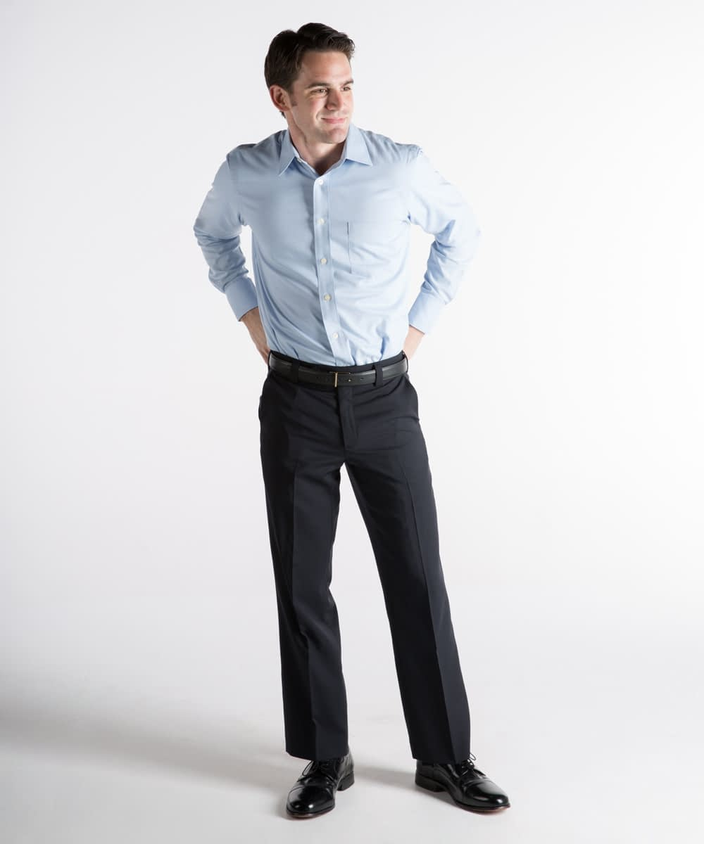 Roderick Premium Wool Dress Pants For Short Men - Navy