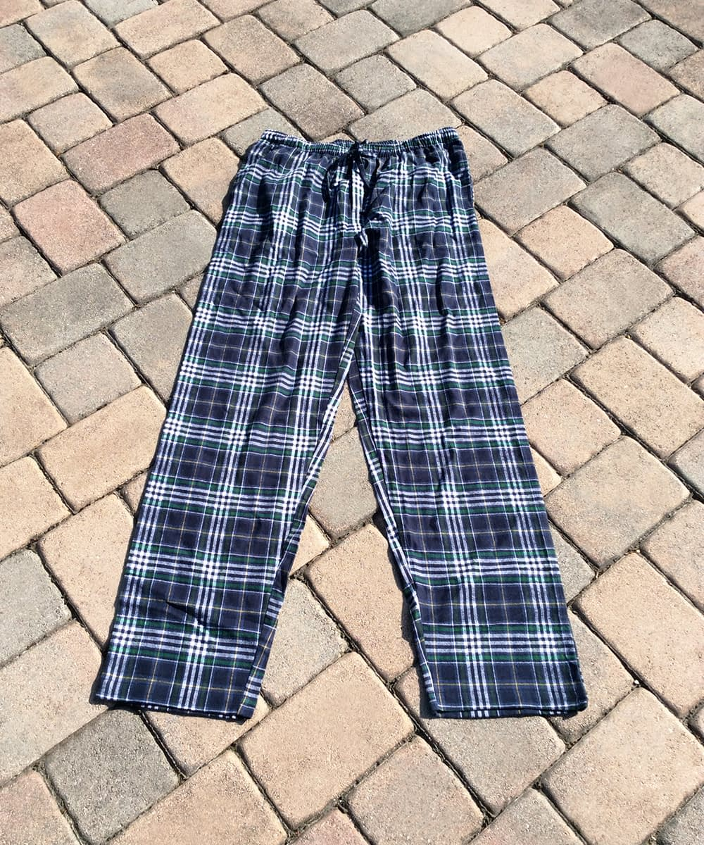 Flannel Pajama Bottoms For Tall Men - Classic Navy Plaid