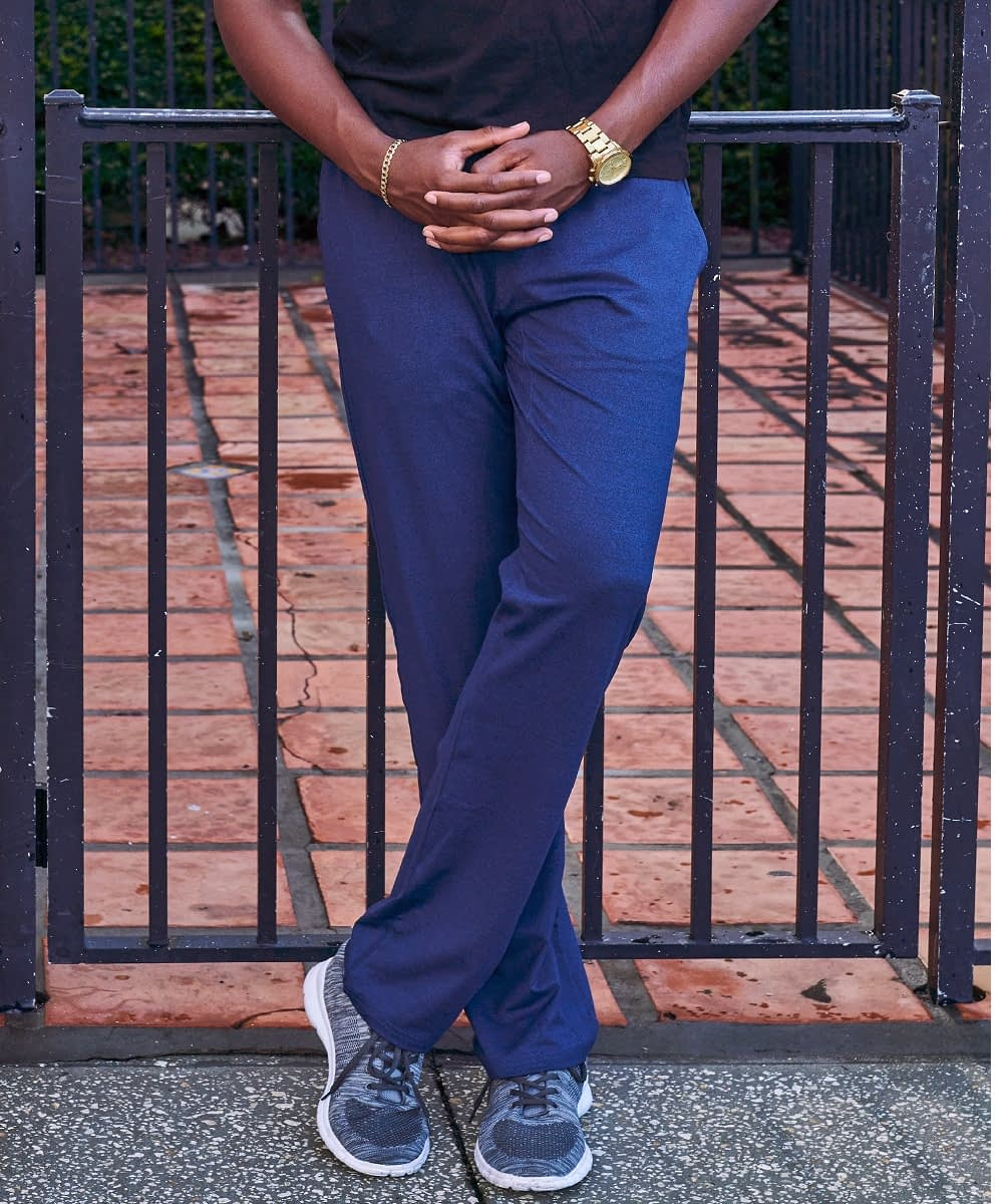 product view short men's navy jogger pant