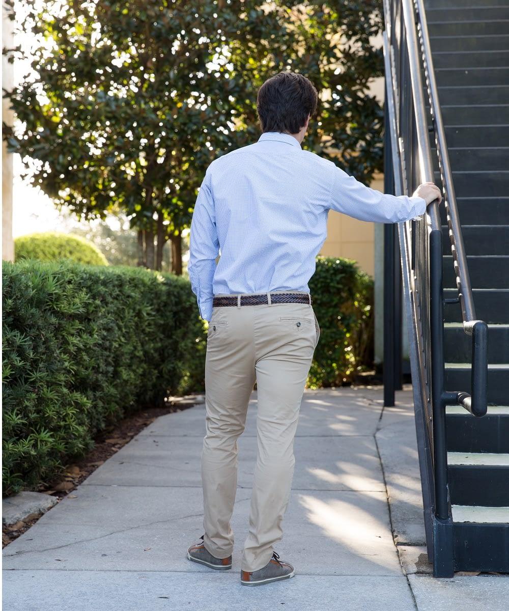 Back View Slim Twill Tall Chino Pant