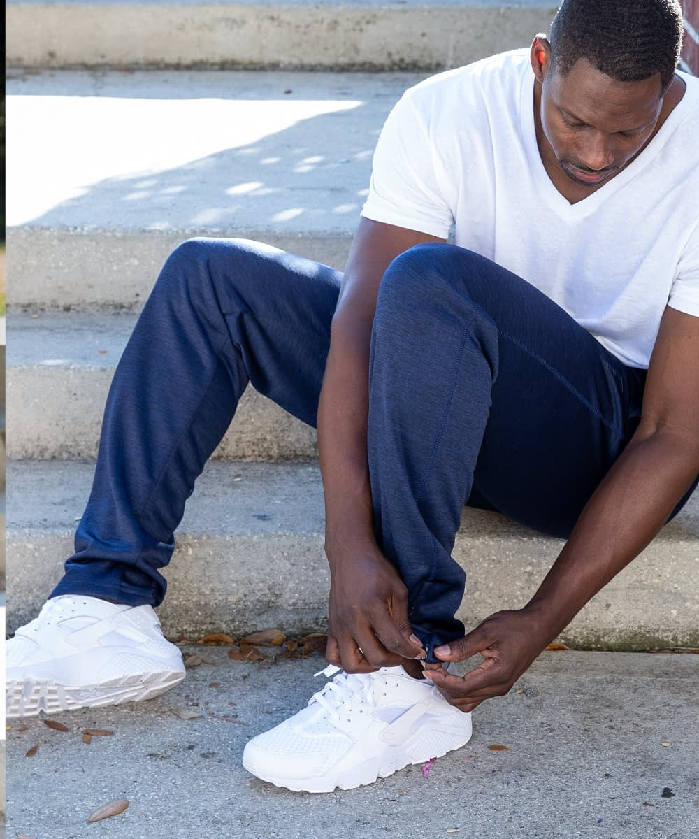 Zip Bottom Speedy Tall Men's Athletic Pant Blue