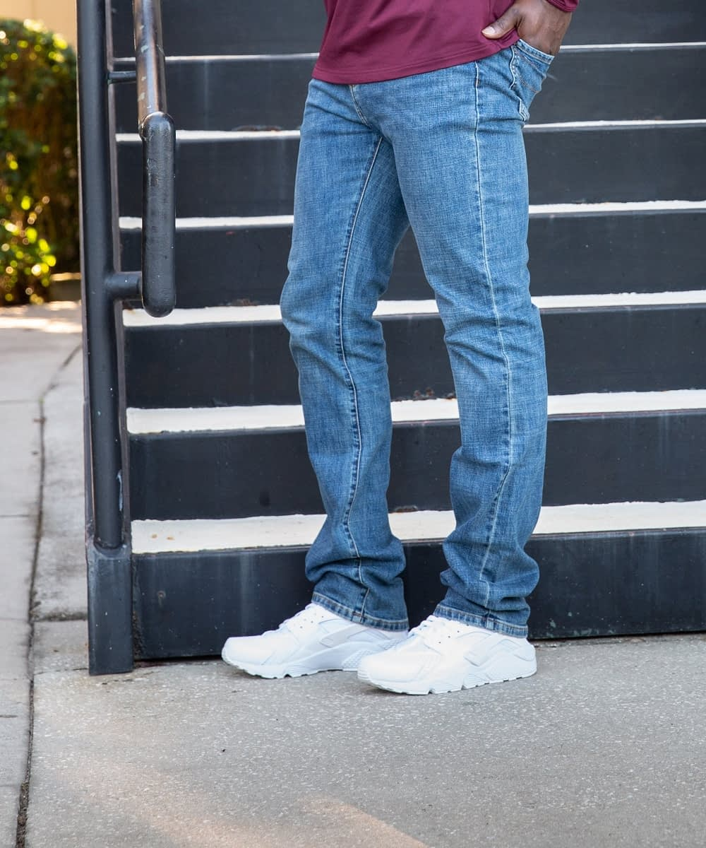 slim fit short mens jeans